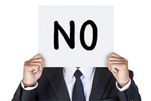 "Sign reading ""no"""