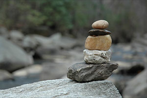 Photo of pebble cairn