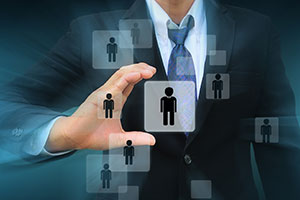Employer choosing the right person