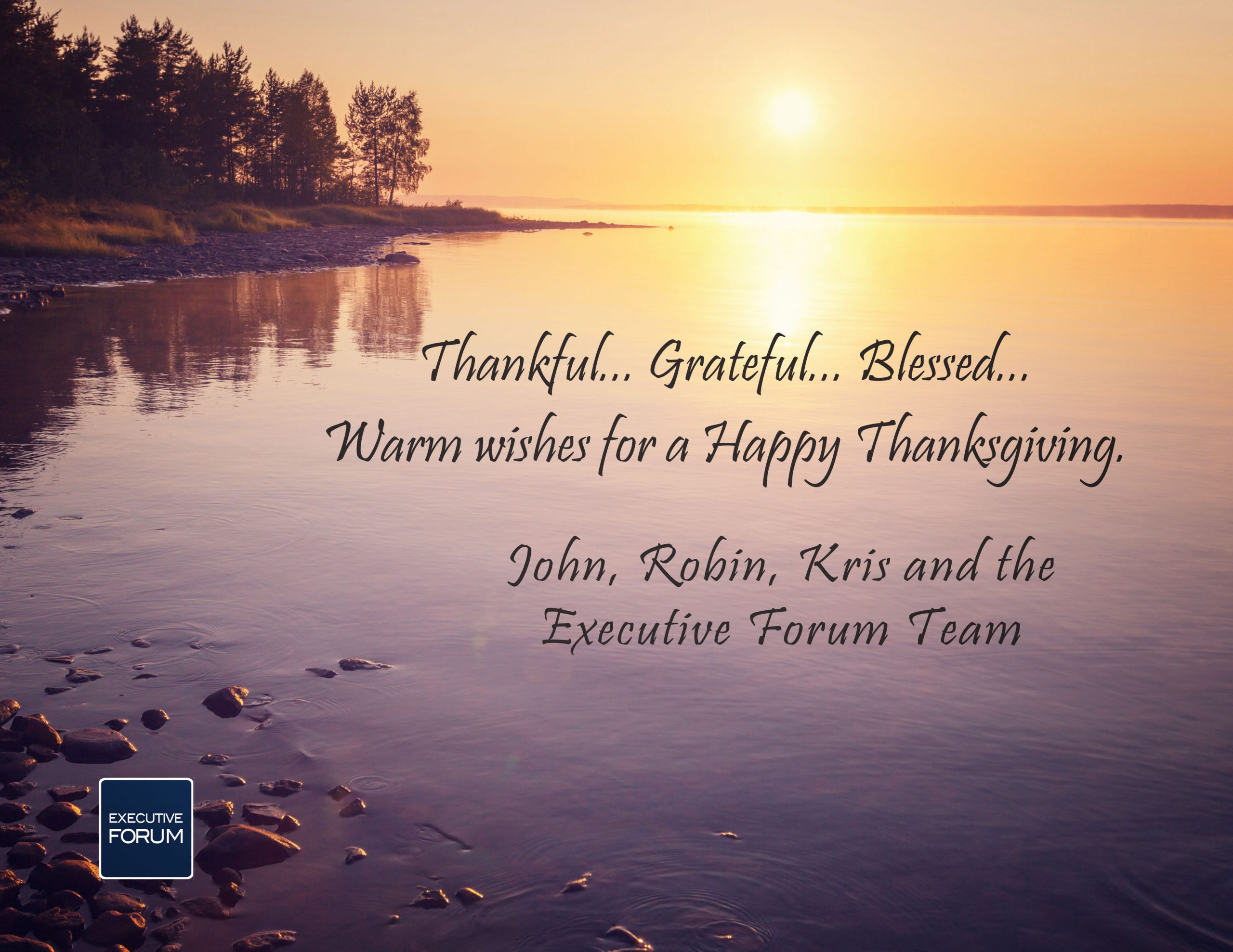 Thanksgiving message and photo