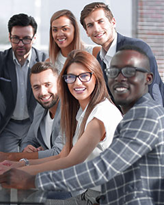 Group of young leaders